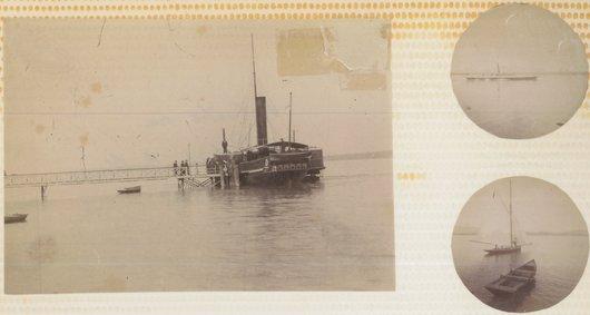 L'Helvétie au port de Bellevue 1882