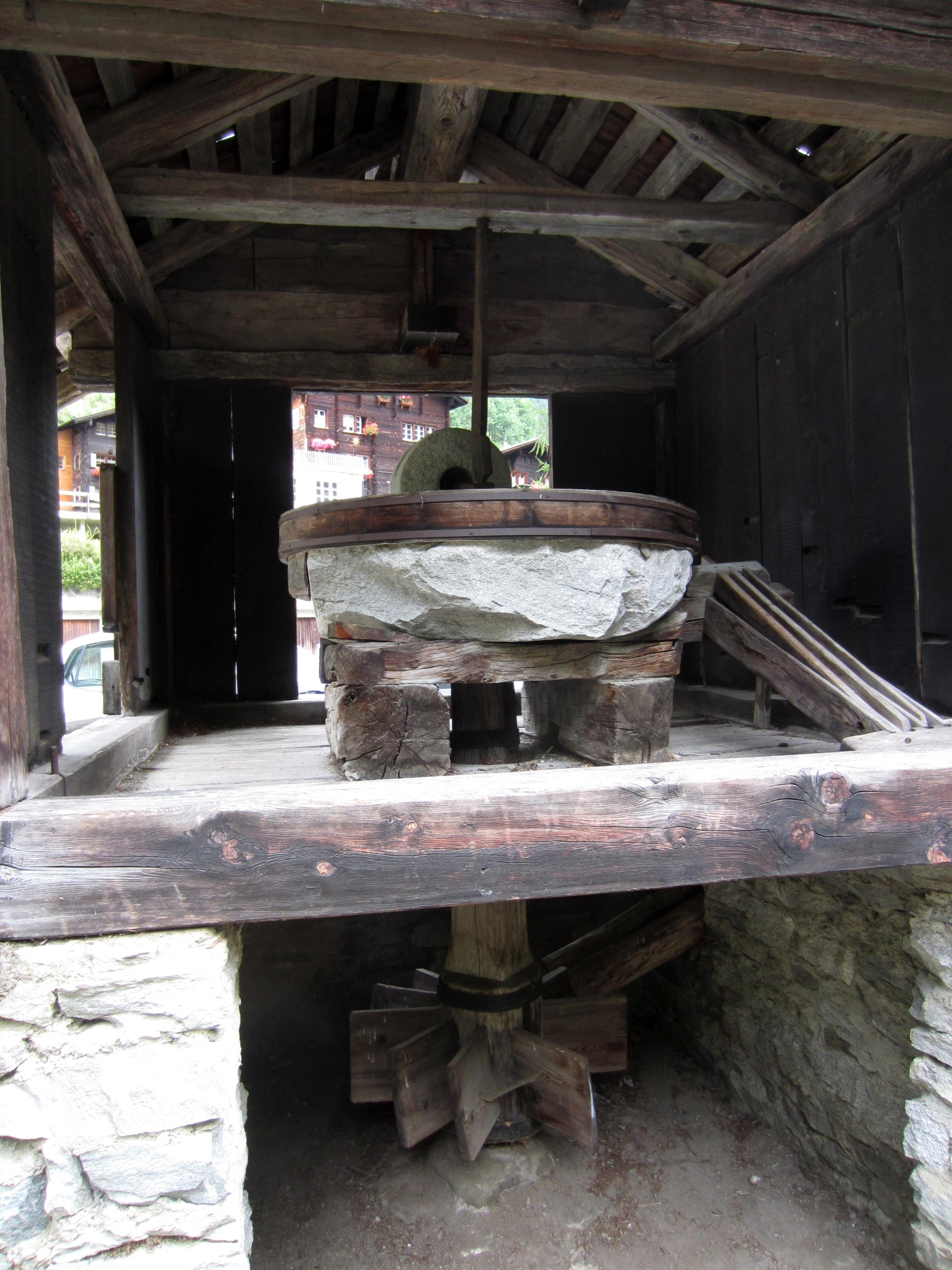 Binn, sytème d'entraînement du moulin à chanvre