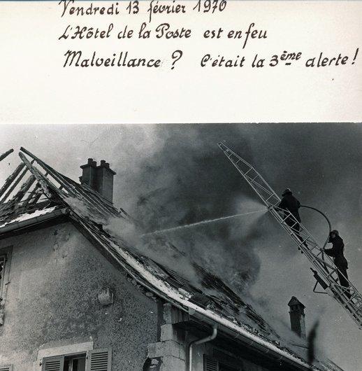 Incendie de l'Hôtel de la Poste