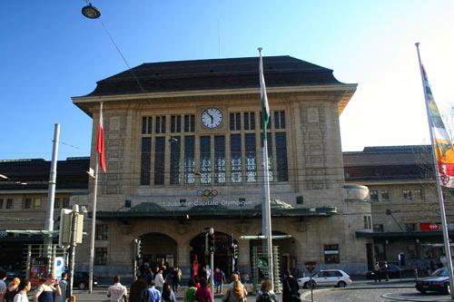 Accident à la Gare CFF de Lausanne