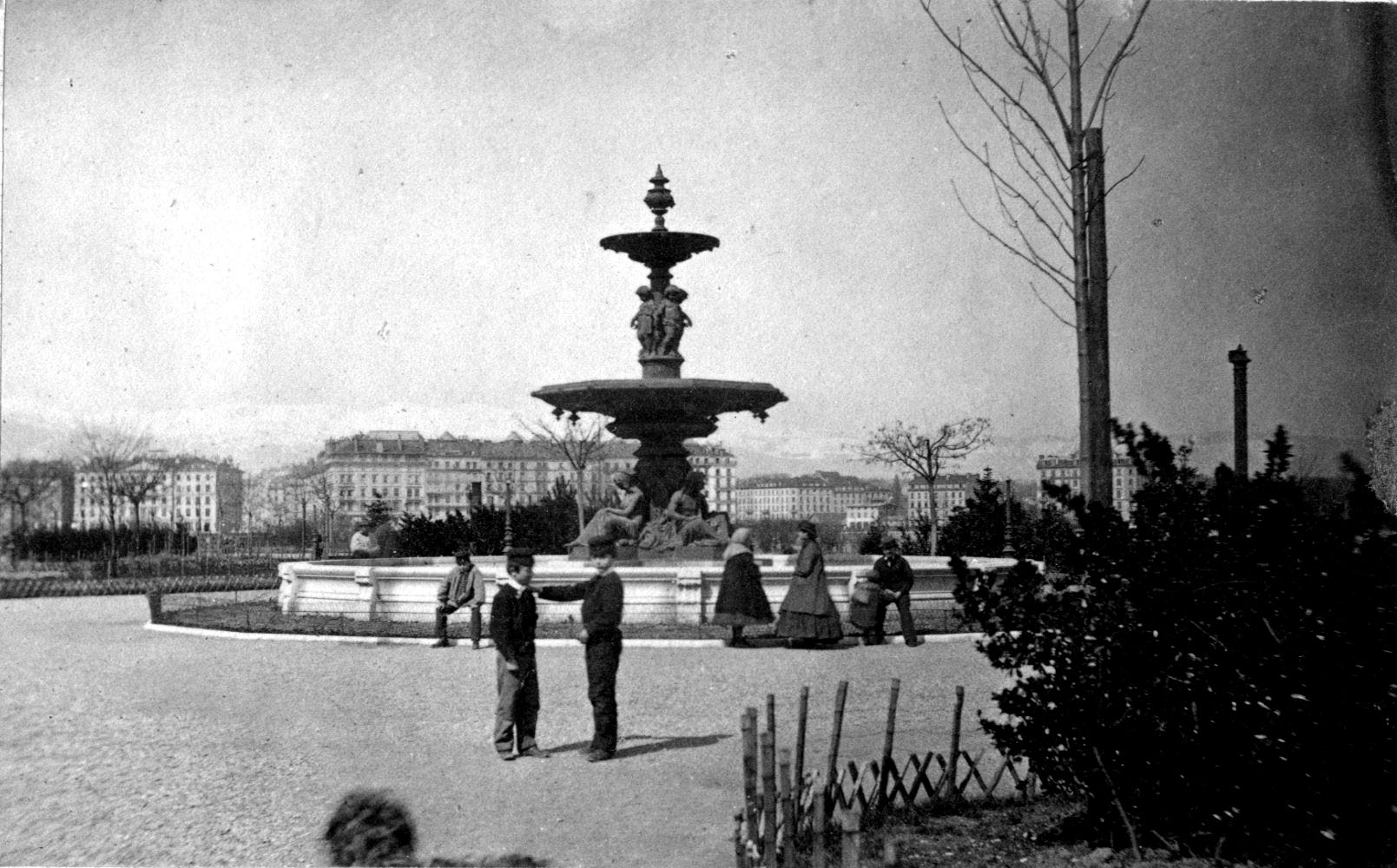 Genève - Jardin Anglais - Fontaine