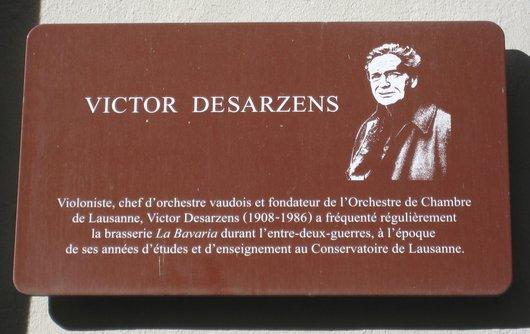 La Ville de Lausanne rend hommage à Victor Desarzens