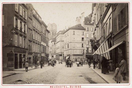Neuchâtel au XIXe siècle: la rue de l'Hôpital