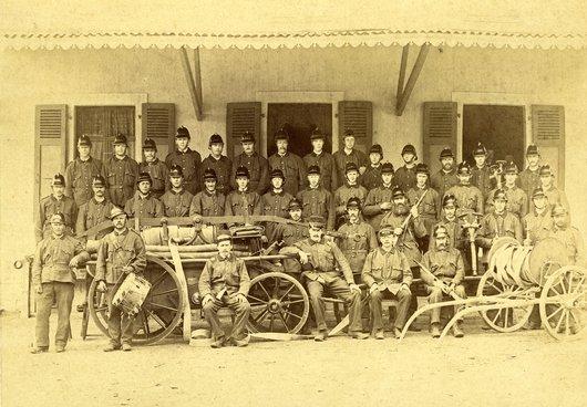 Corps des pompiers de Broc en 1895
