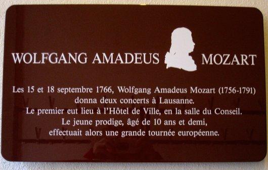 Wolfgang Amadeus Mozart enfant à Lausanne