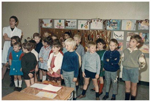 Classe Enfantine - Collège Vinnet Clarens 1967 - 68