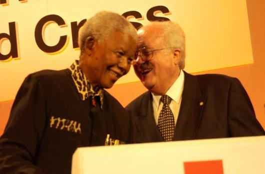 Nelson Mandela et Jacques Moreillon