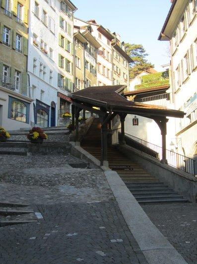 Lausanne escaliers du Marché