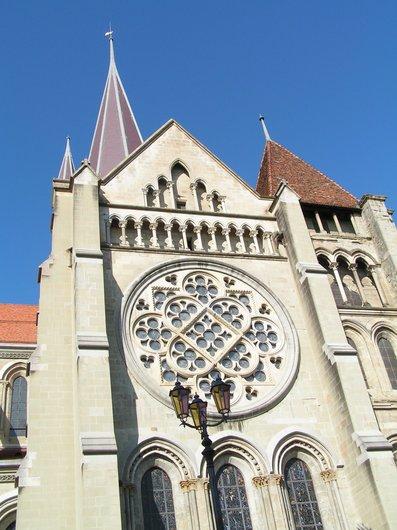Lausanne la rosace cathédrale Notre-Dame