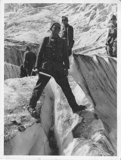 Exercice sur un glacier