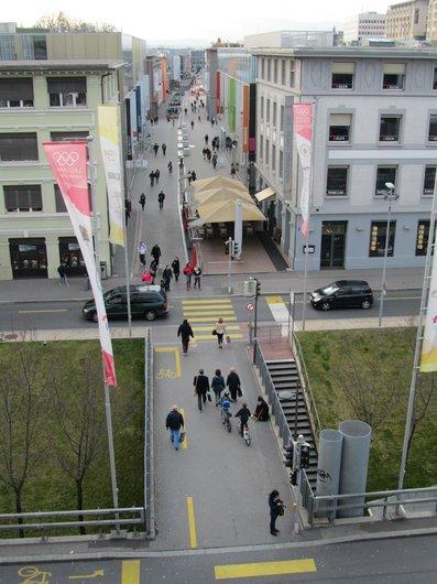 Lausanne le quartier du Flon