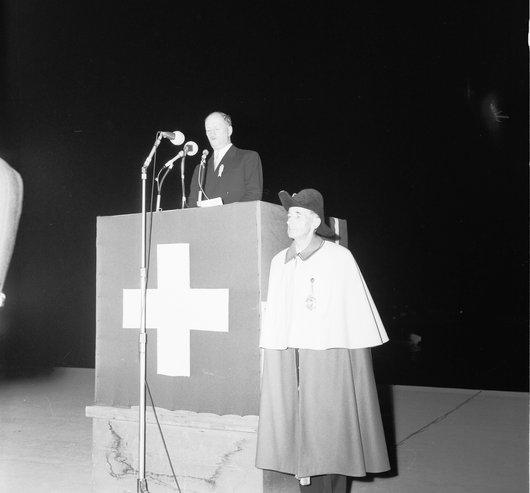 Discours du 1er août de M. Paul Chaudet à l'Expo 64