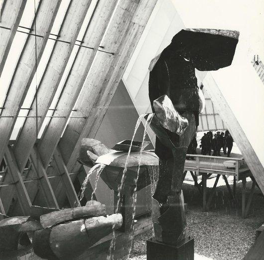 «Les Sources de nos Libertés» oeuvre de Albert Rouiller - Expo 64