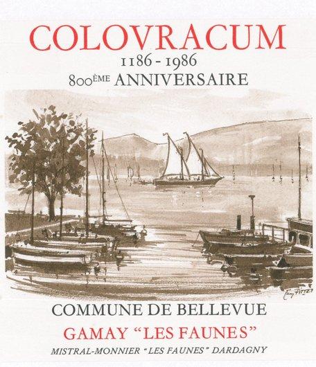 Etiquette vin 800ème Colovracum