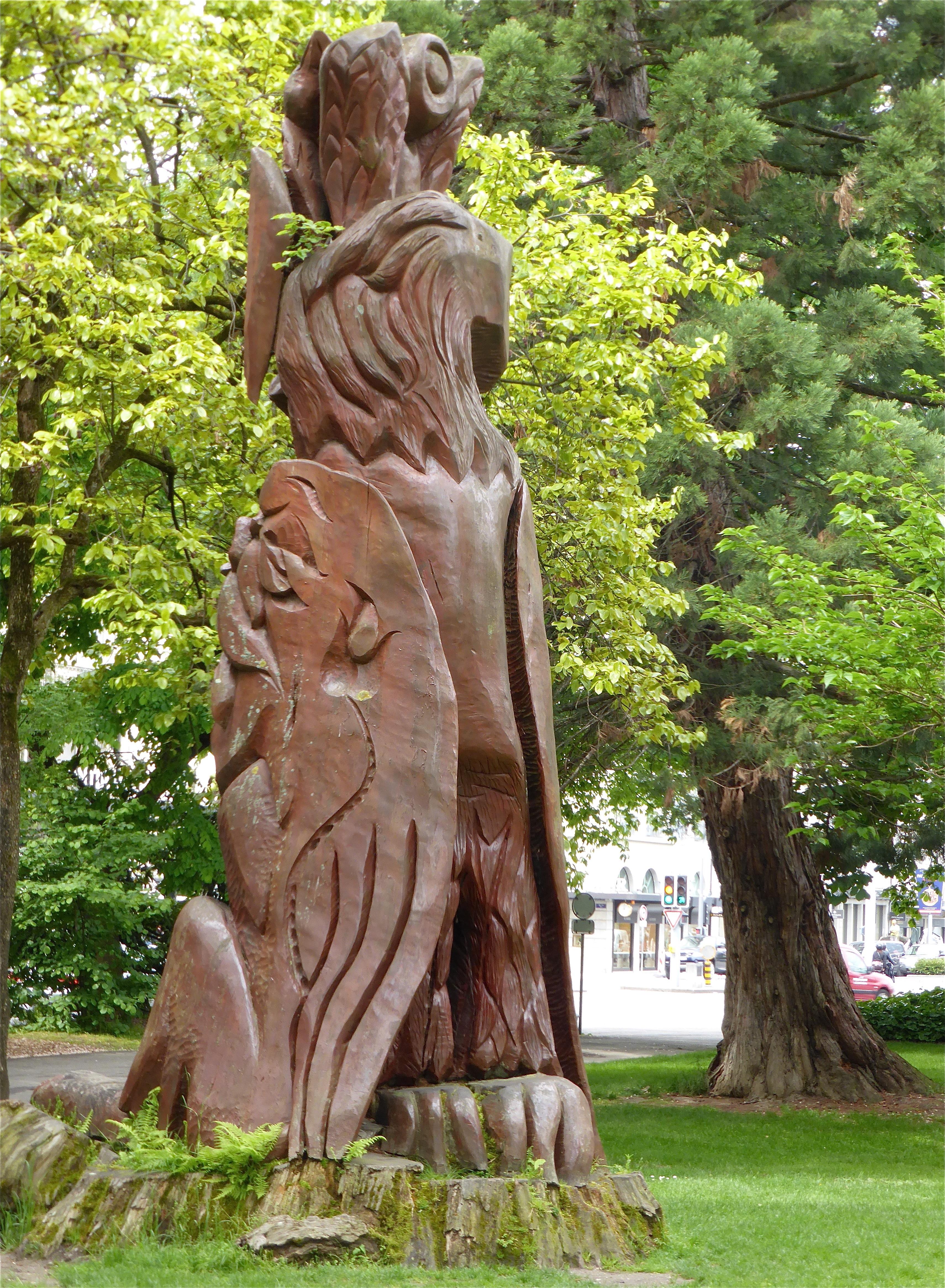 Abrimaux, sculpture au Jardin Anglais