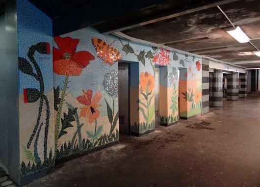 Fresque sociale - Passage souterrain de Chauderon Lausanne