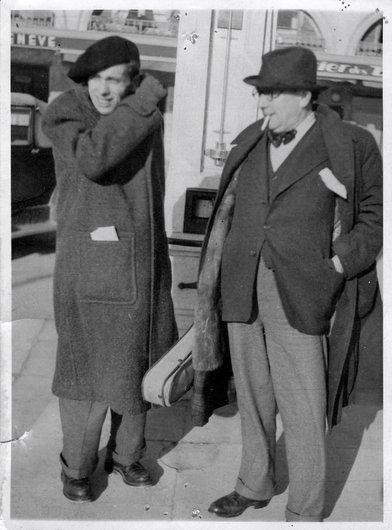 Victor Desarzens et Marcel Poncet en visite à Claudel