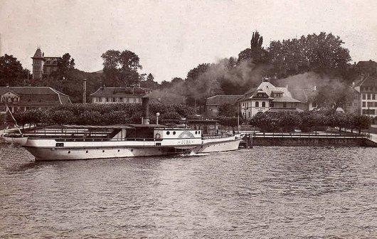 Le vapeur SS Jura (1896-1921) à Morat