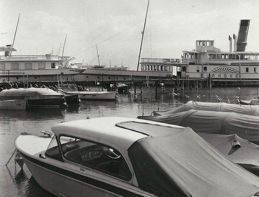 Vapeur «Le Rhône» au port