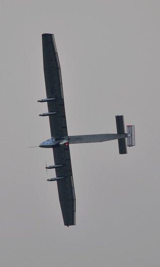 Solar Impulse 2 , lors de son premier vol au dessus de Payerne