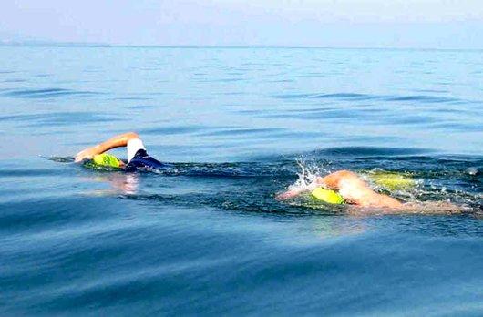 Première traversée du lac Léman à la nage, 50e anniversaire de Bellerive-Plage. film.