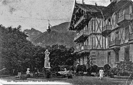 Trinkhalle après surélévation en 1895
