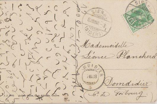 Une carte postale énigmatique