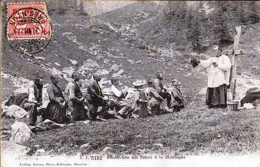 Bénédiction des pâtres à la montagne