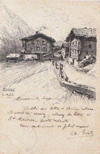Zinal, le premier hôtel par Meltzer