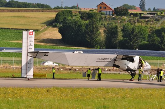2ème vol d'essai de Solar Impulse 2 (HB-SIB)