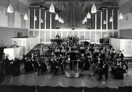 Concert de l'OCL dans le studio Victor Desarzens