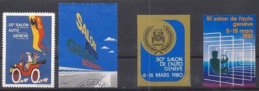 Vignettes du salon de l'automobile de Genève