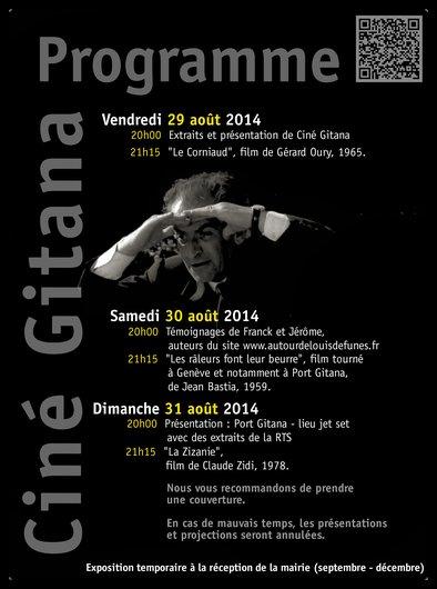 Affiche Ciné Gitana de Funès verso