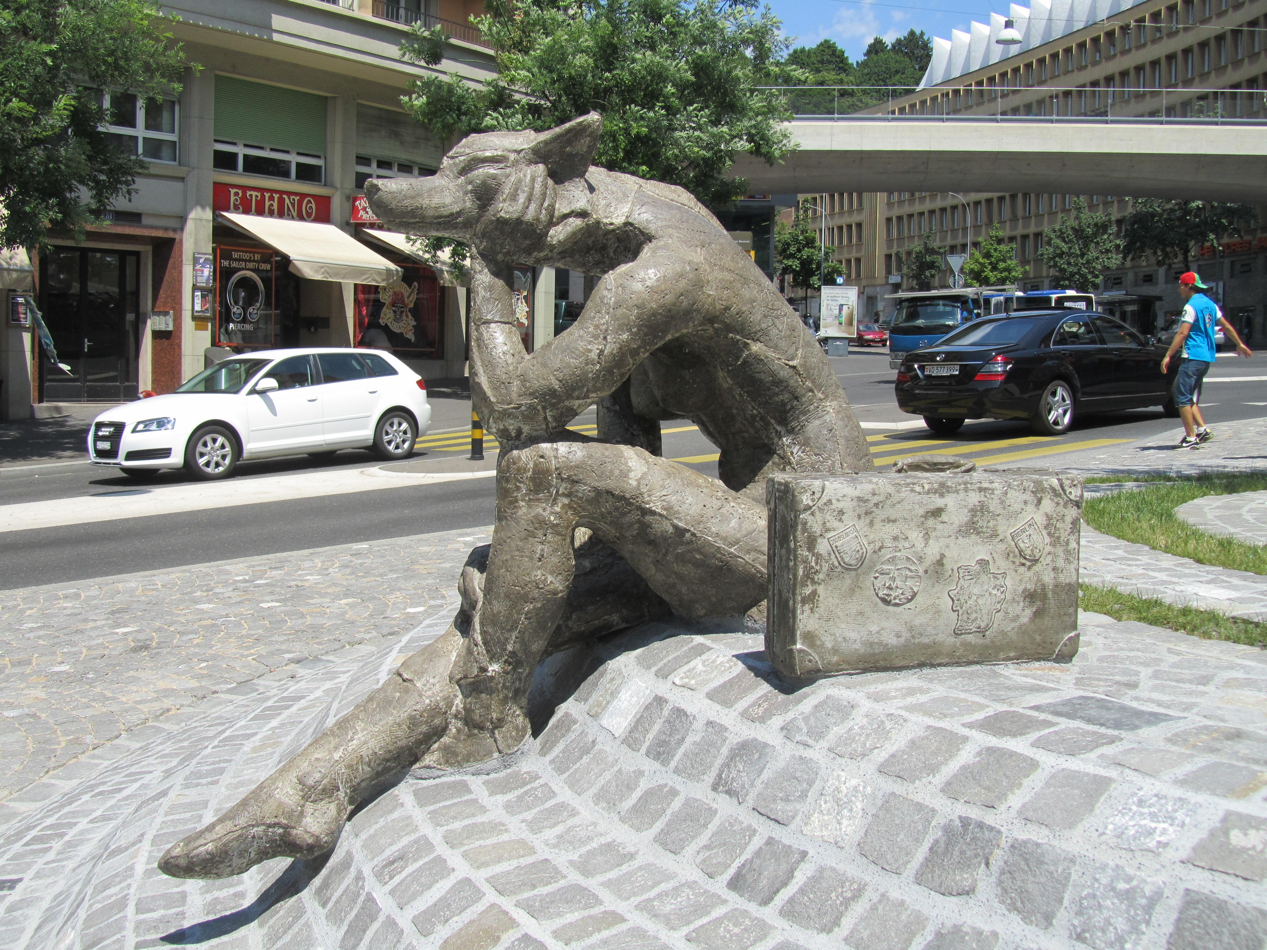 Lausanne L'homme loup oeuvre de Zaric