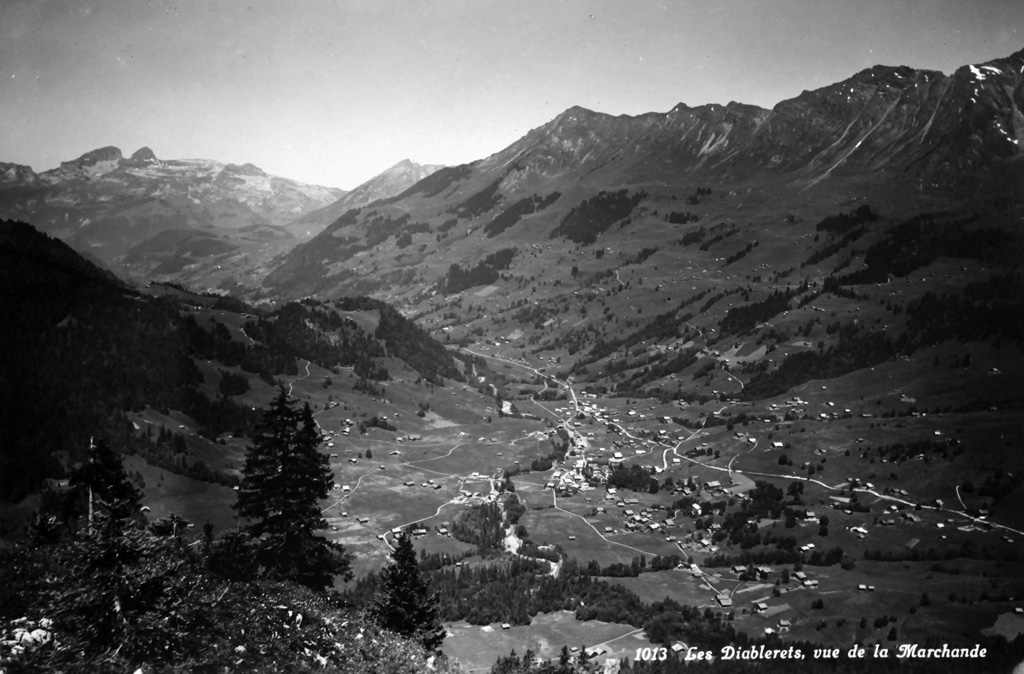 Les Diablerets vu d'avion, archives TPC
