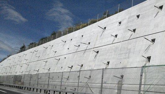 Réfection des murs et murs de soutènements de l'autoroute
