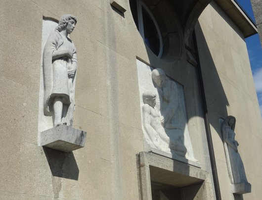 Décoration, entrée de la chapelle de l'Hôpital cantonal - Lausanne