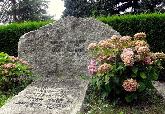 Tombe d'Eugène Rambert - Cimetière de Clarens