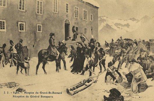 Hospice du Grand-St-Bernard - Réception du Général Bonaparte