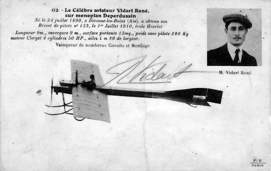 René Vidart sur monoplan Deperdussin