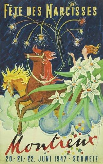 Affiche de la Fête des Narcisses de 1947