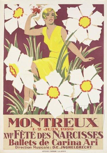 Affiche de la Fête des Narcisses de 1929