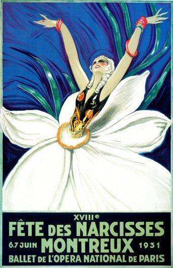 Affiche de la Fête des Narcisses de 1931