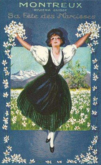Affiche de la Fête des Narcisses de 1925