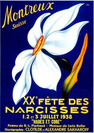 Affiche 2 de la Fête des Narcisses de 1938