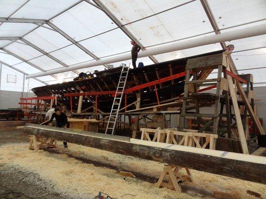 Chantier de restauration - Barque la «Vaudoise»