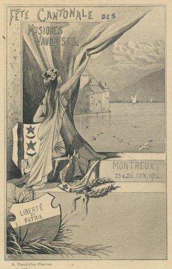 Fête cantonale des musiques vaudoises 1904