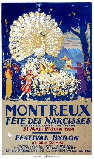 Affiche de la Fête des Narcisses de 1924