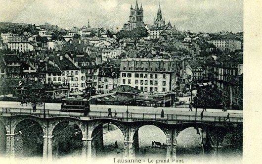 Le grand Pont à Lausanne