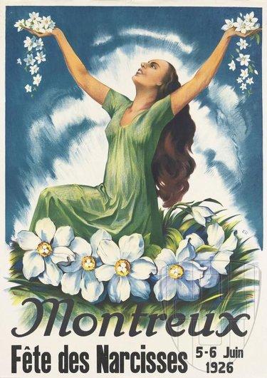 Affiche de la Fête des Narcisses de 1926
